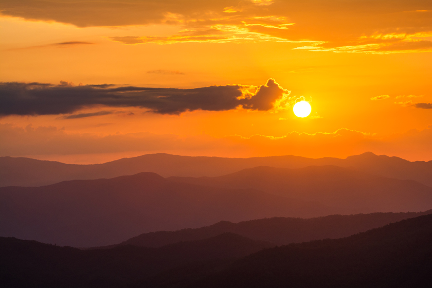Western North Carolina Golden Sunset