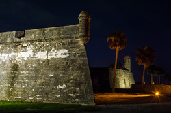Castillo de San Marcos at night