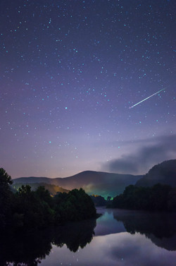 Perseid Meteor Over the James