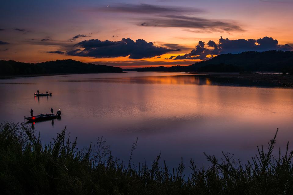 Sunset Over the Cherokee Lake