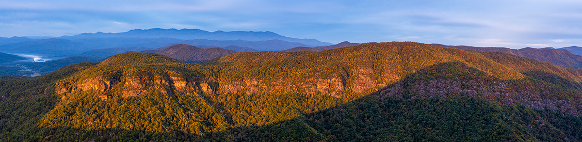 Morning Light in the Gorge-Pano