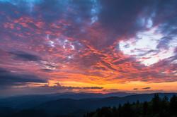 Fire Skies Over North Carolina