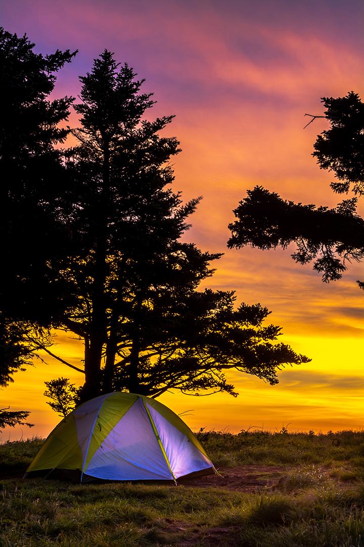 Camping Along Round Bald