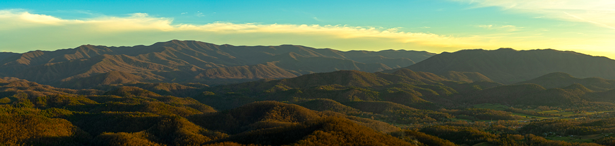Golden Hour from the Foothills Parkway
