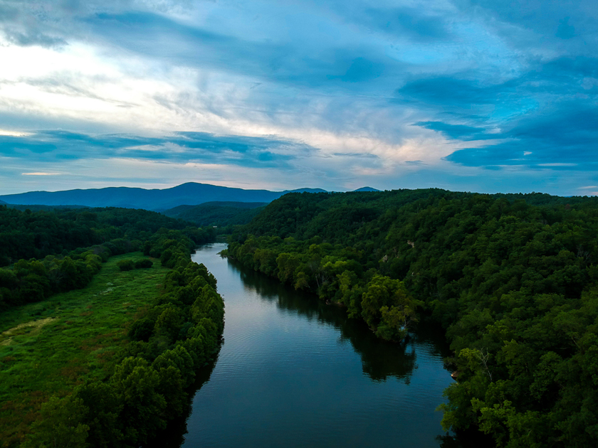 Aerial View of the James River