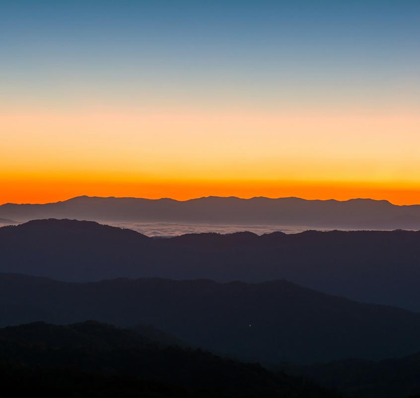 Sunrise Over the Blue Ridge Mountain