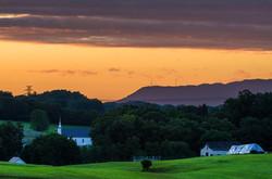 Sunrise Over Church Hill