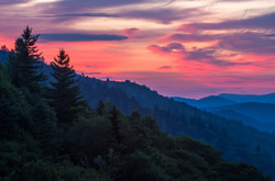 Sunrise at Newfound Gap, GSMNP