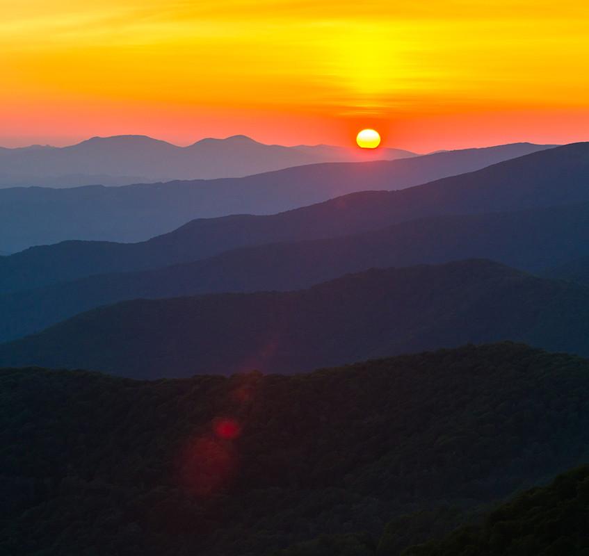 Sunrise in the Roan Highlands