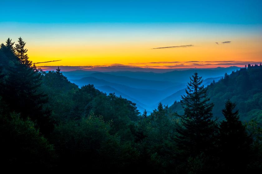 Sunrise at Newfound Found Gap