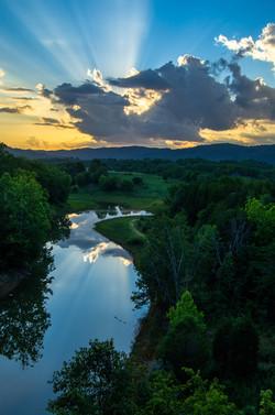 Sunset Reflections at Cherokee Lake