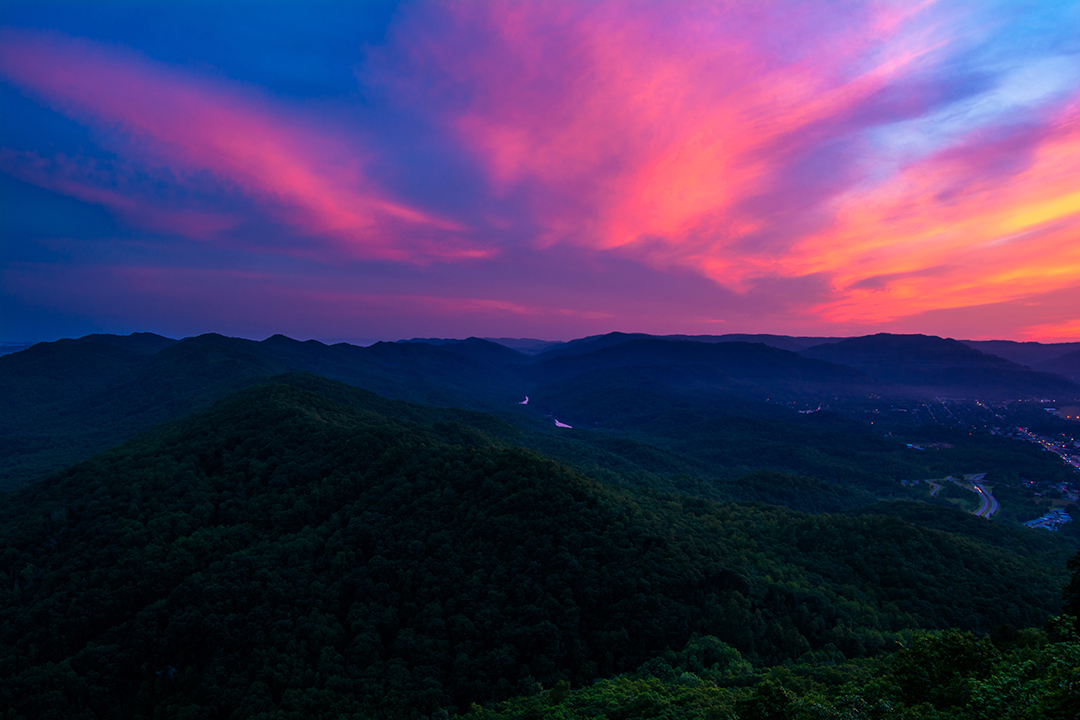 Pink Skies Over the Gap