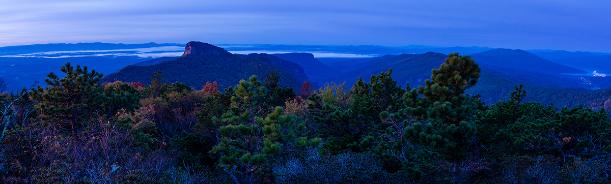 Blue Hour from Hawksbill-Pano