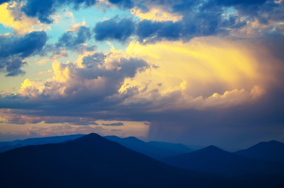 Storm Over the Blue Ridge Mountains