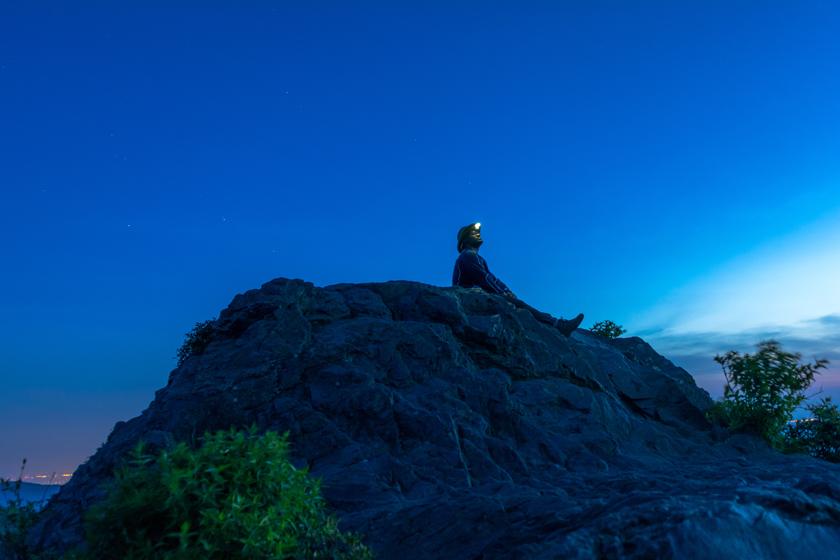 Toribio waiting on the sunrise