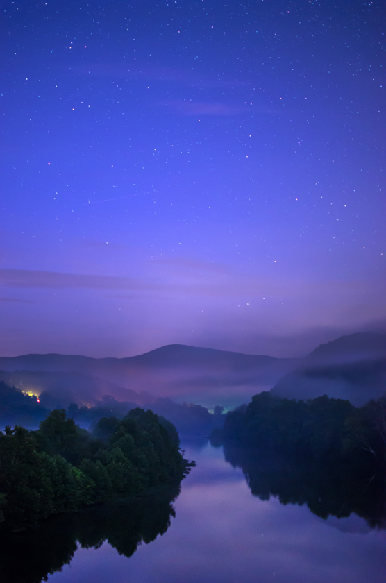 Fog and Stars Over the James River