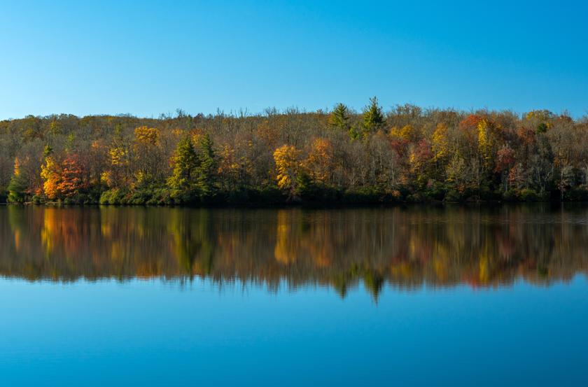 Autumn Reflections Along Price Lake