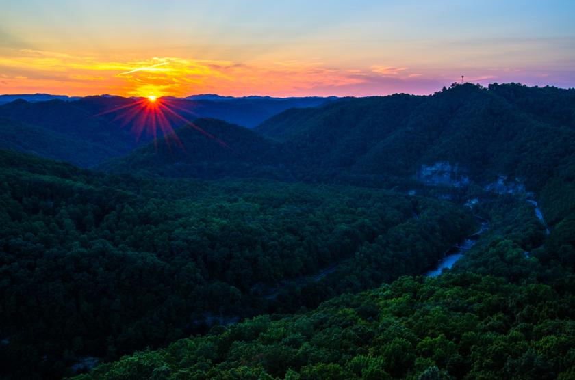 Sunset from Stateline Overlook