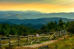 Sunset along the Grayson Highlands
