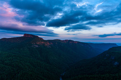 Blue Hour at Wiseman's View - Pisgah National Forest - NC