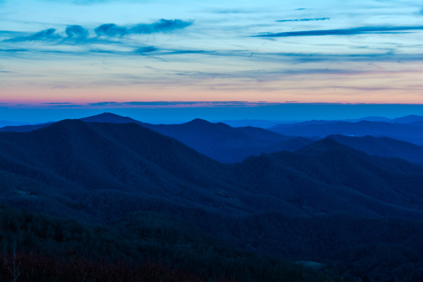 Blue Hour at Roan Mountain
