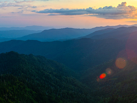 Sunrise from the Jump Off, Great Smoky Mountains National Park