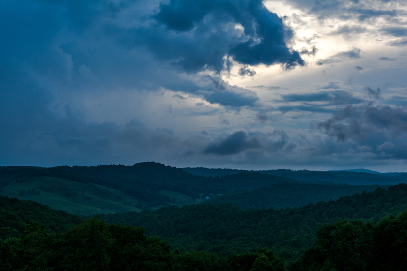 Storm Clouds Over the Blue Ridge Mountains