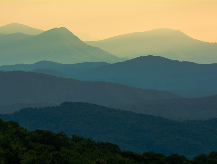 Sunset in the Grayson Highlands