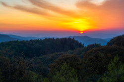 Sunrise in the Blue Ridge Mountains