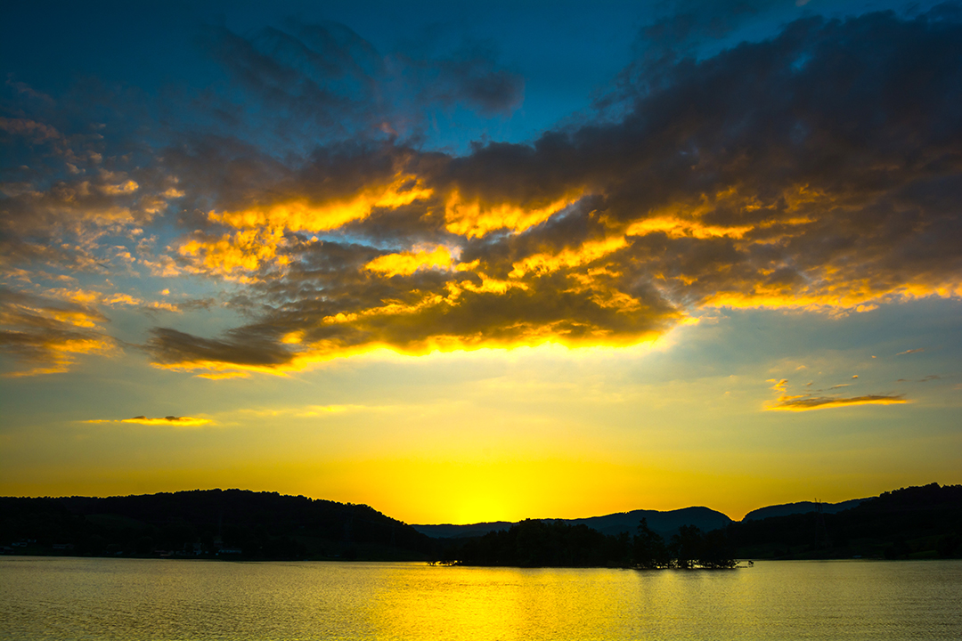 Sunset at Cherokee Lake