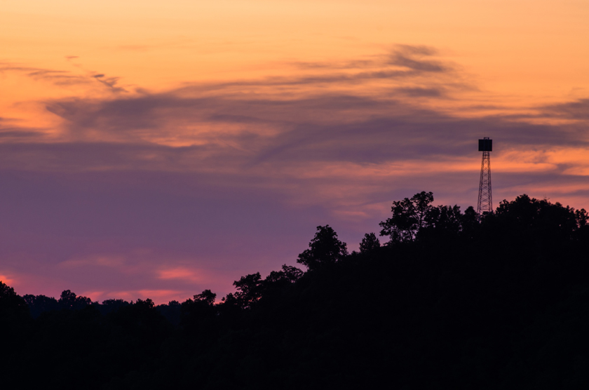 Summer Sky and the Firetower
