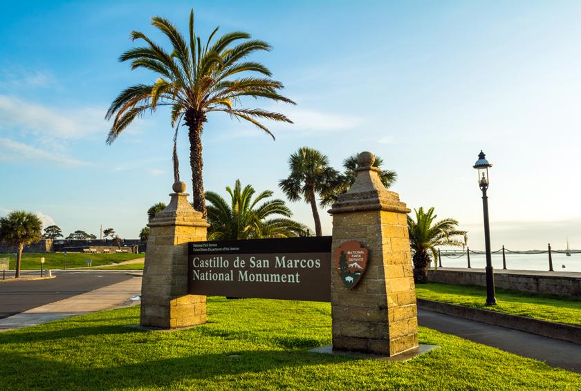 Castillo de San Marcos Sign