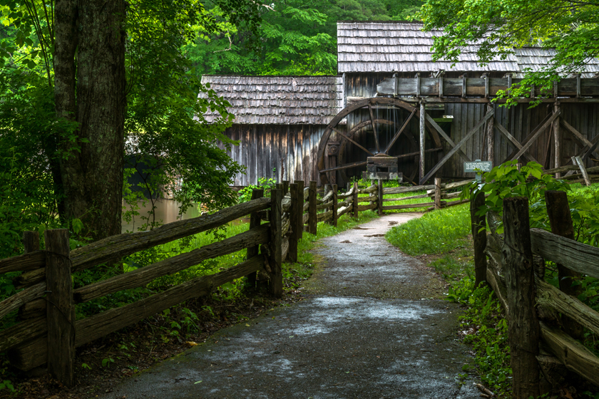 Side View of Mabry Mill