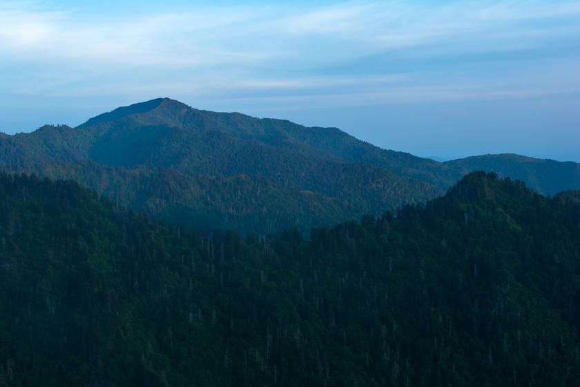 Dawn at Mt Le Conte