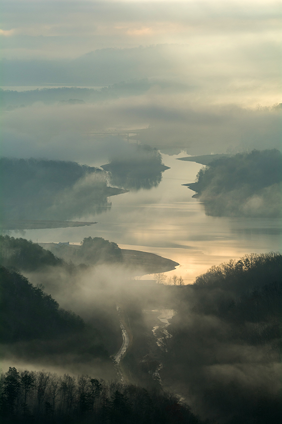 Fog Over Cherokee Lake