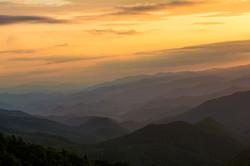 Rising Golden Smoky Mountains
