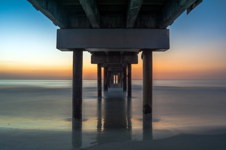 Sunrise at St. Johns Pier