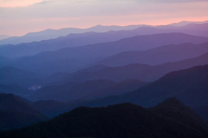 Purple Ridges in Western North Carolina