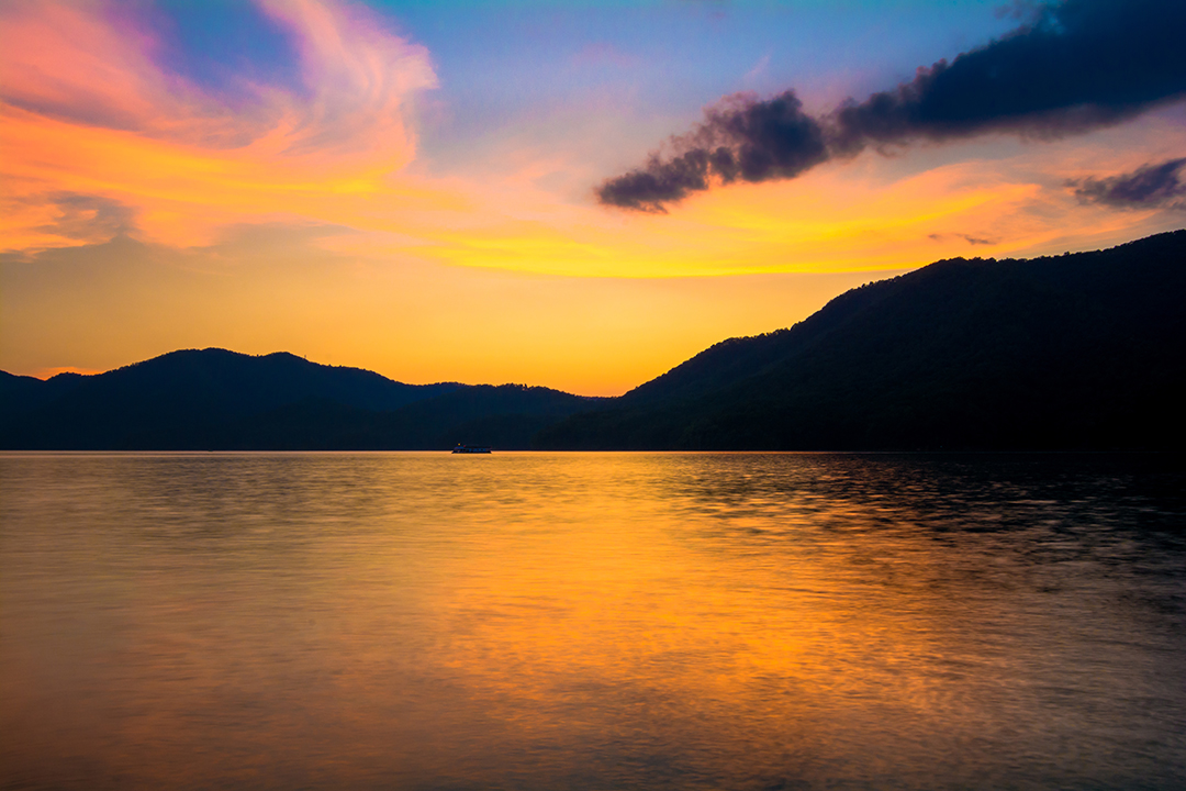Sunset at Watauga Lake
