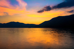 Sunset at Watauga Lake
