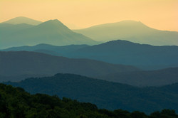 Mountain Layers at Dusk
