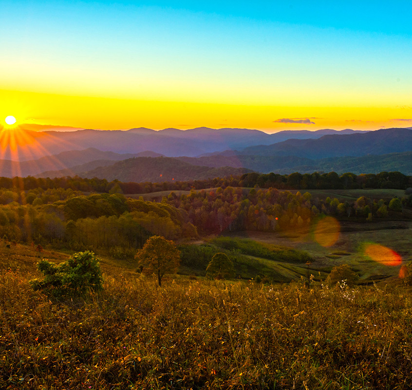 Autumn Sunrise from Max Patch