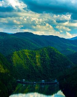Vertical Panoramic of Calderwood Dam