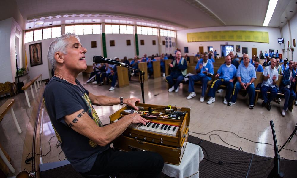 Jai Uttal at San Quentin