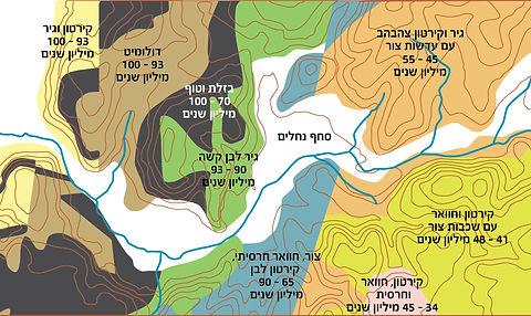מפה גאולוגית של עמק שפיה