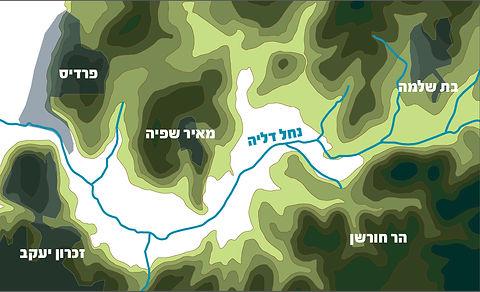מפה טופוגרפית של עמק שפיה