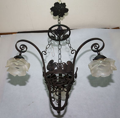 3 Arms Iron Fixture - Art Deco Style