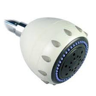 H2O International Shower Head Filter Five Spray White