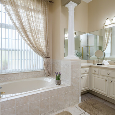 His and her sinks in master bath