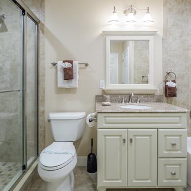 Shared bath on second floor